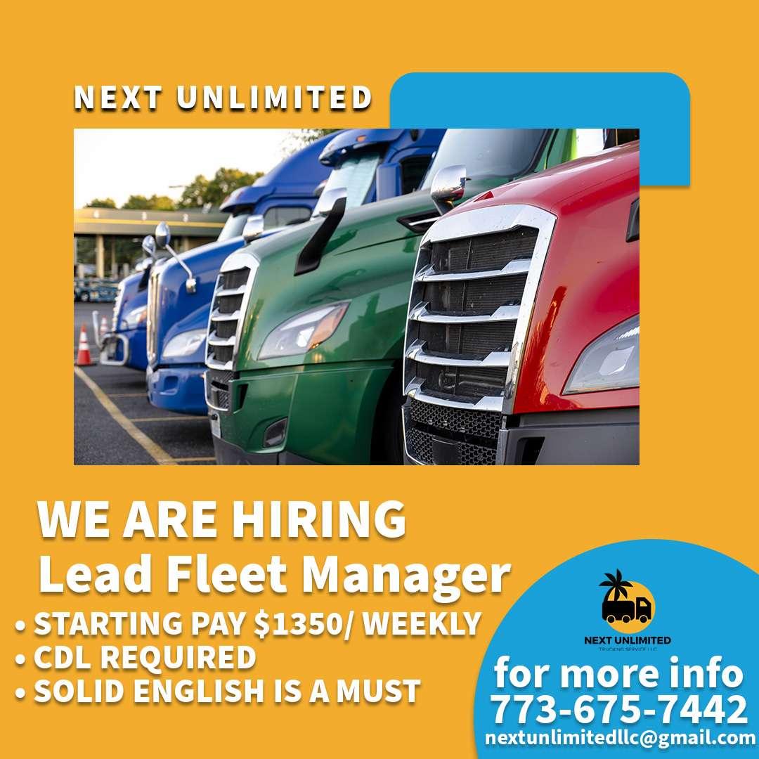 Kompanija Next Unlimited zapošljava Fleet Managera